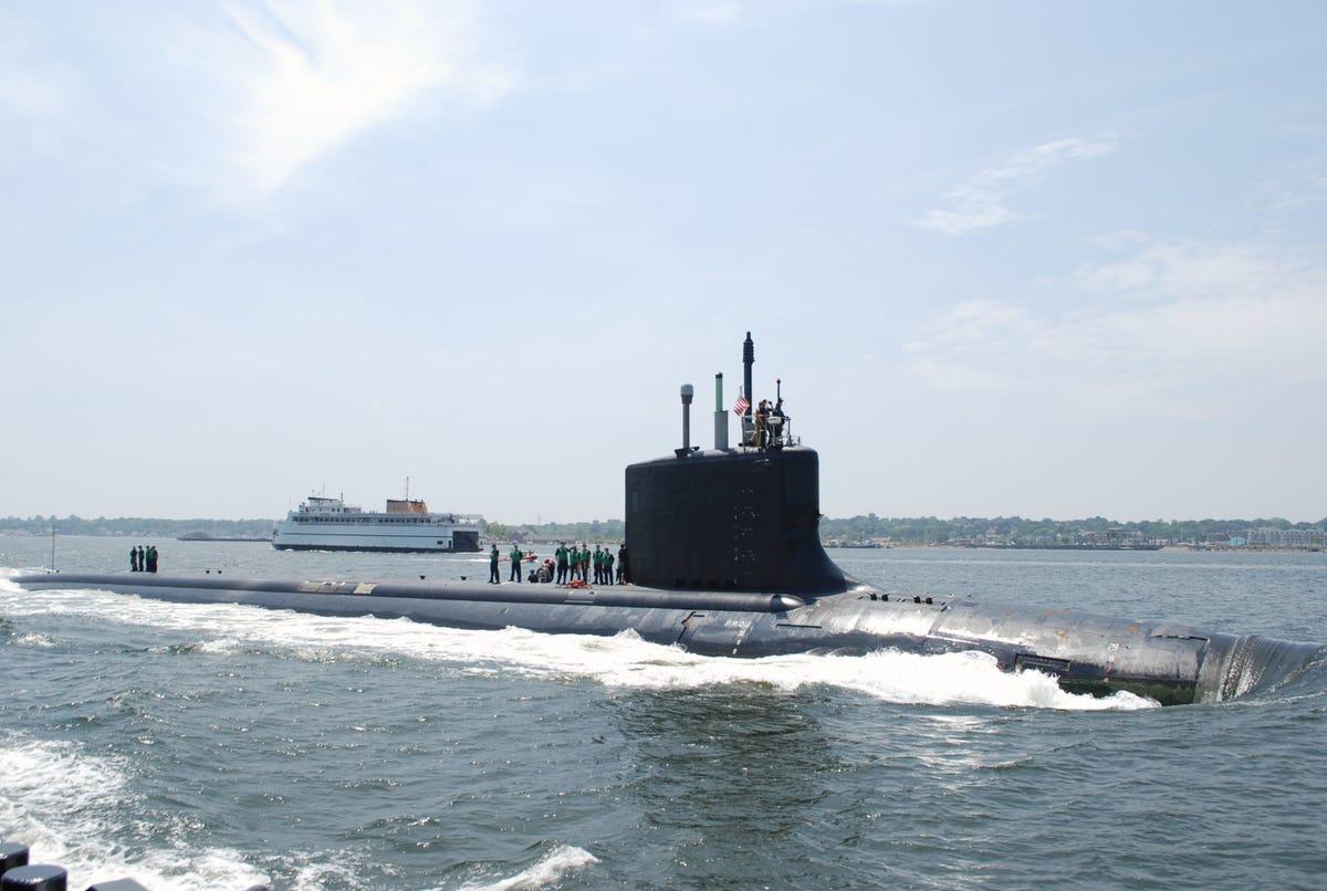 USS Montana submarine coming together