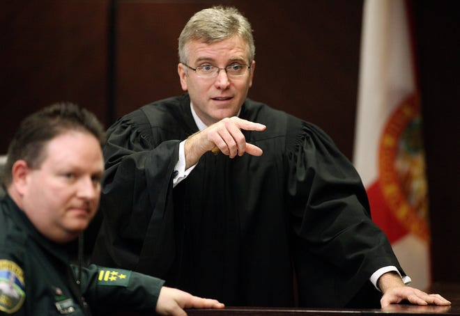 Judge Mark Walker, shown here in a 2009 file photo, on Wednesday  filed an order disqualifying himself from the felon voting case.