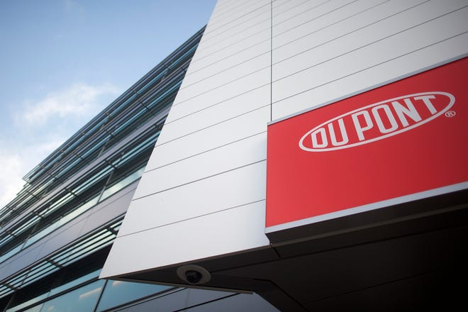DuPont headquarters are shown on Dec. 11, 2015. DuPont and Dow merged to become DowDuPont.