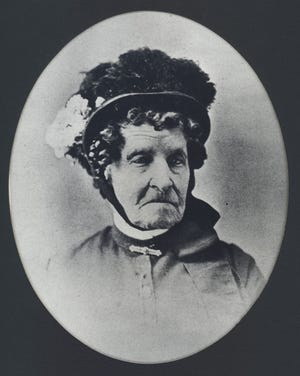 """""""Auntie"""" Elizabeth Stone came to Camp Collins in 1864 to open a mess hall for the post's officers. She would become known as the """"founding mother"""" of Fort Collins."""