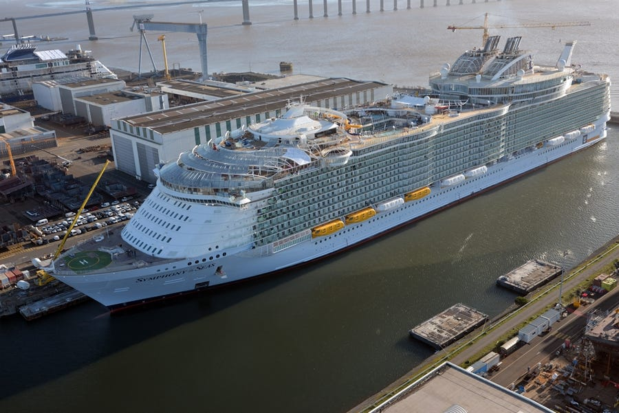 Symphony of the Seas to feature two-deck family suite with slide between floors