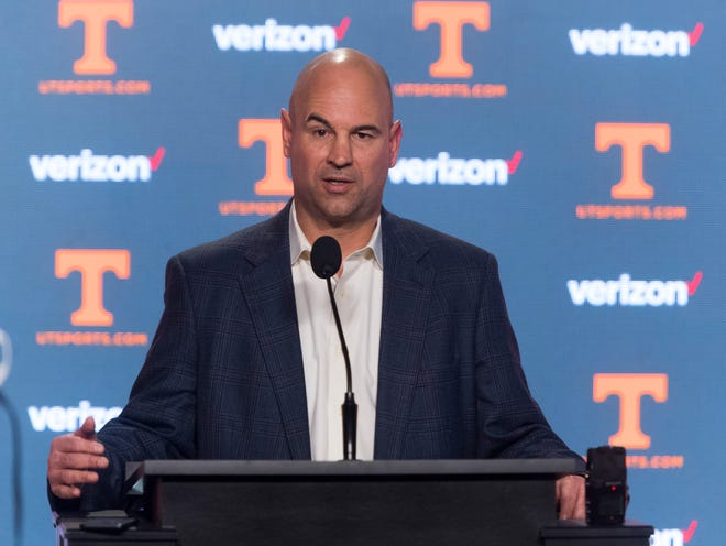 Tennessee head coach Jeremy Pruitt during the Signing Day new conference on Wednesday, February 7, 2018.