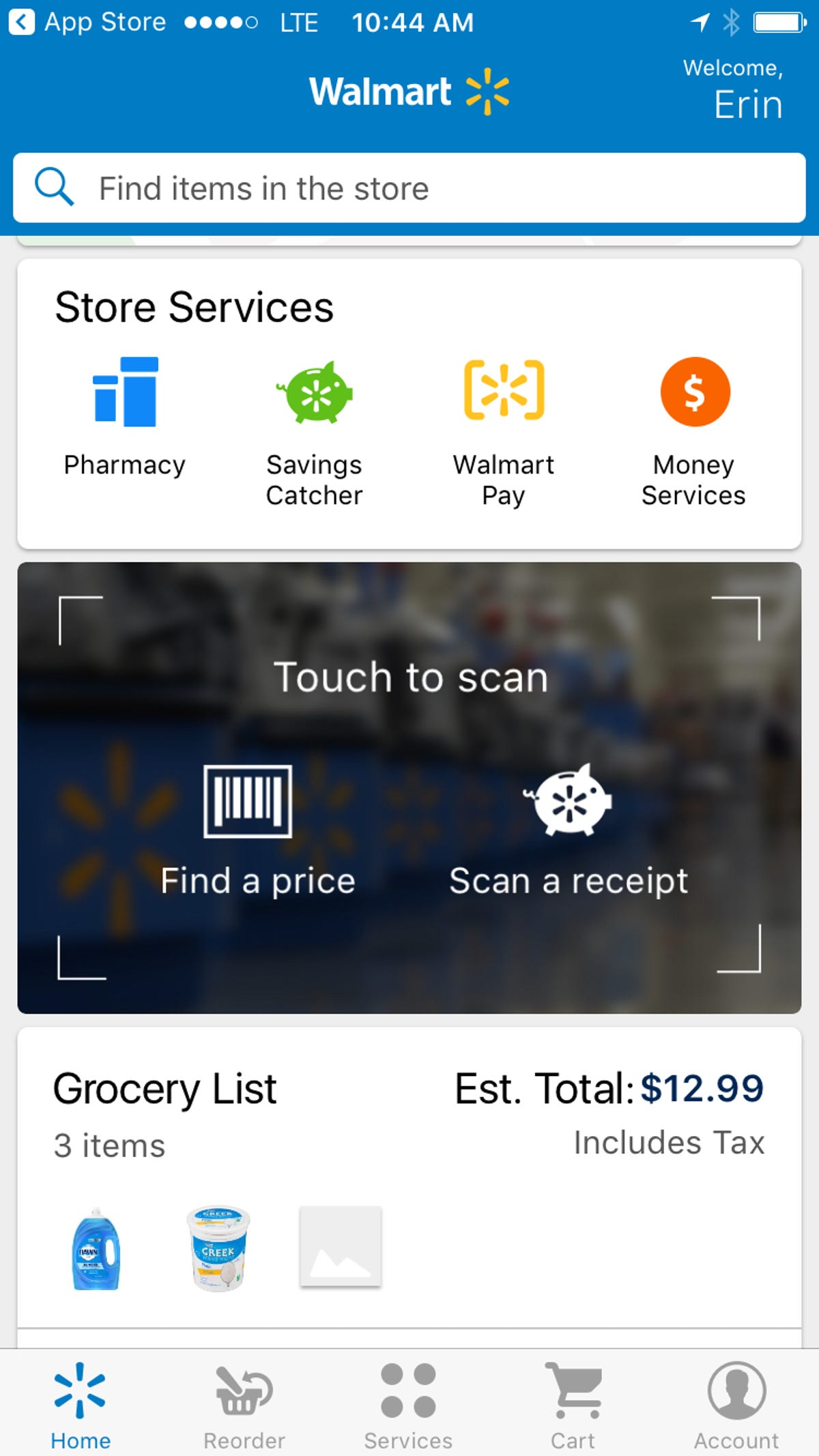Walmart updates its app to make shopping in store easier and
