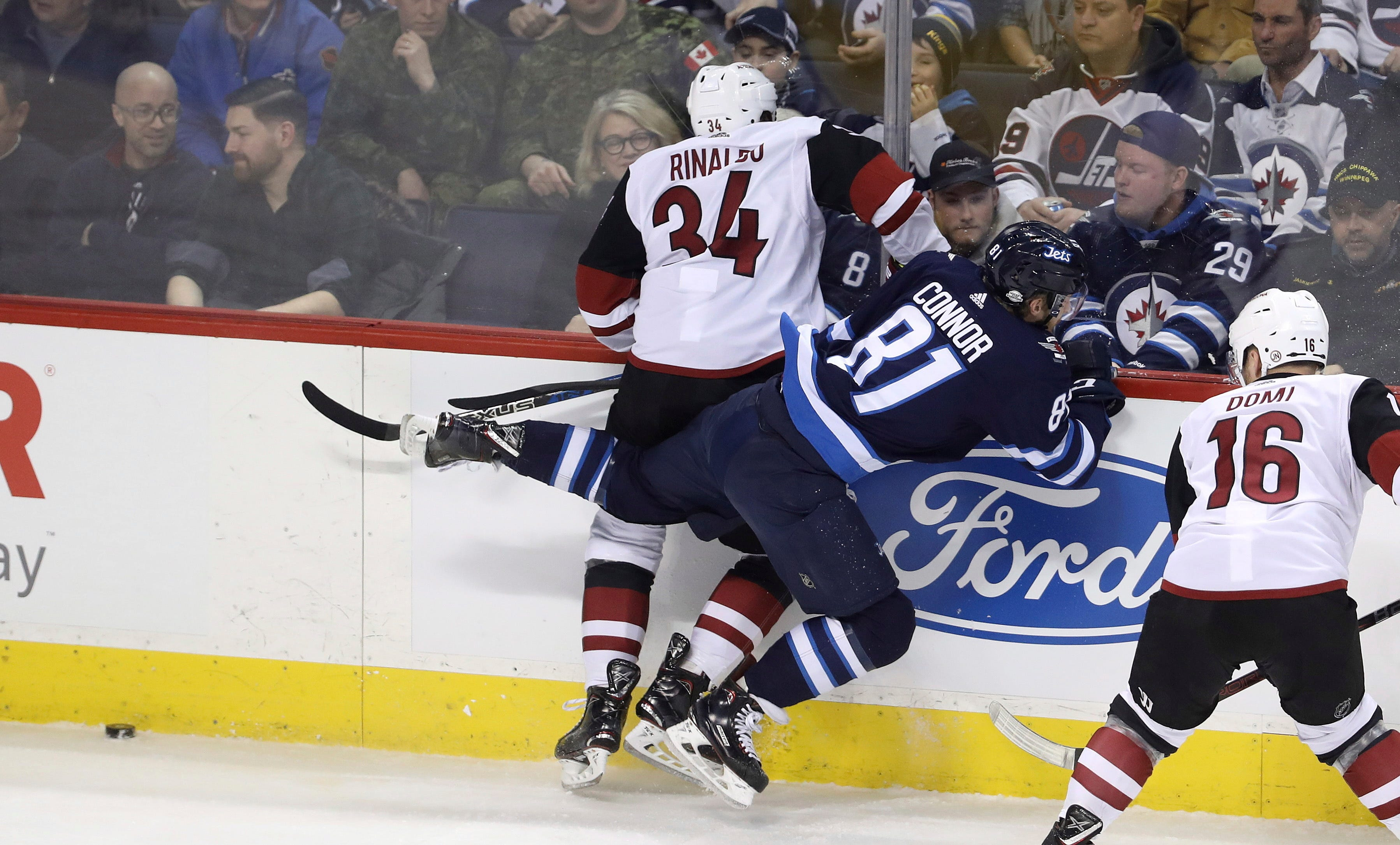 Byfuglien's goal and assist lead Jets past Coyotes 4-3