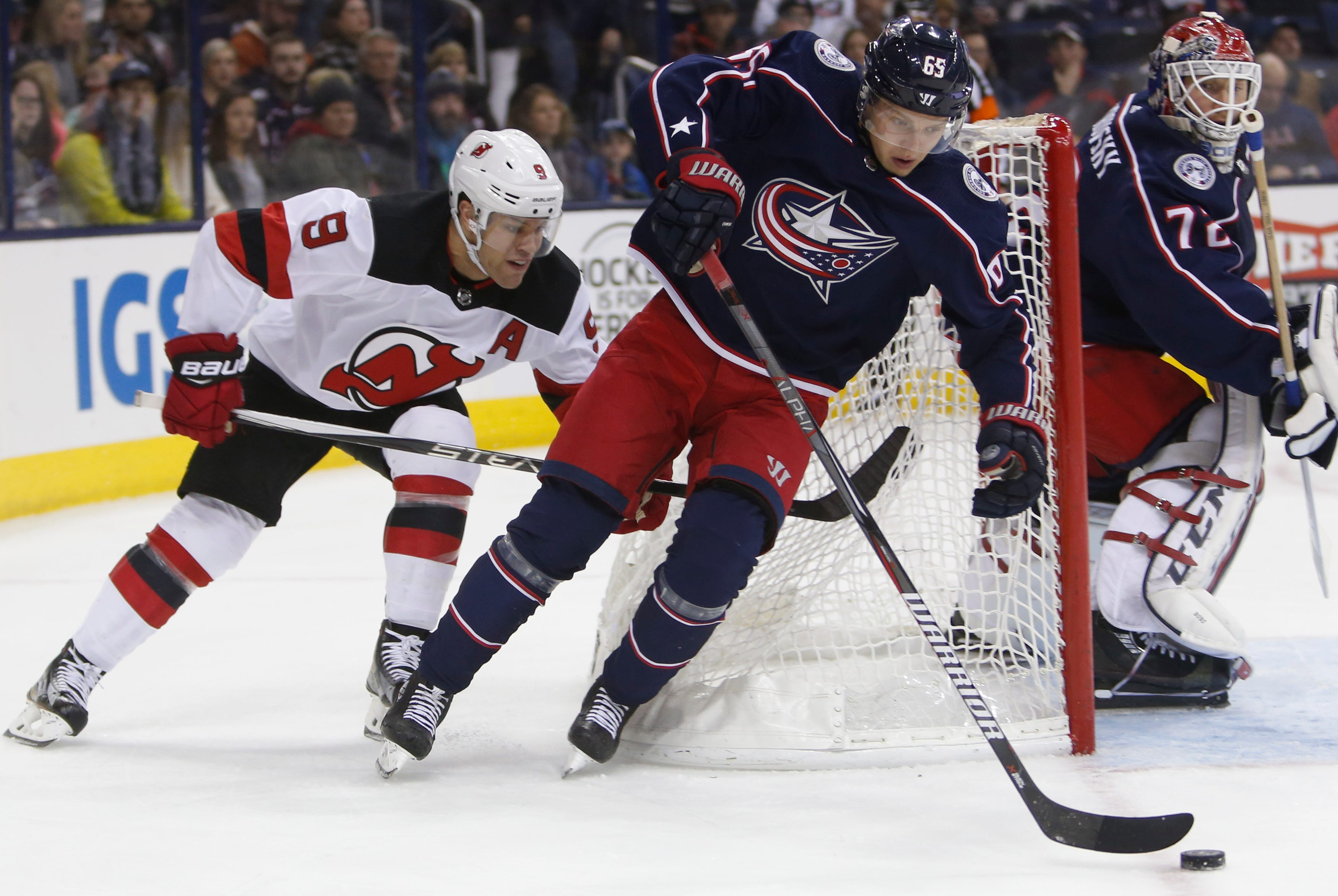 Blue Jackets snap losing streak with 6-1 win over Devils