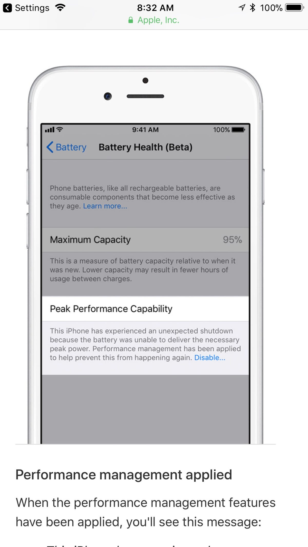 timeless design f205f 2fa38 iPhone battery: iOS update lets you stop Apple from slowing down ...
