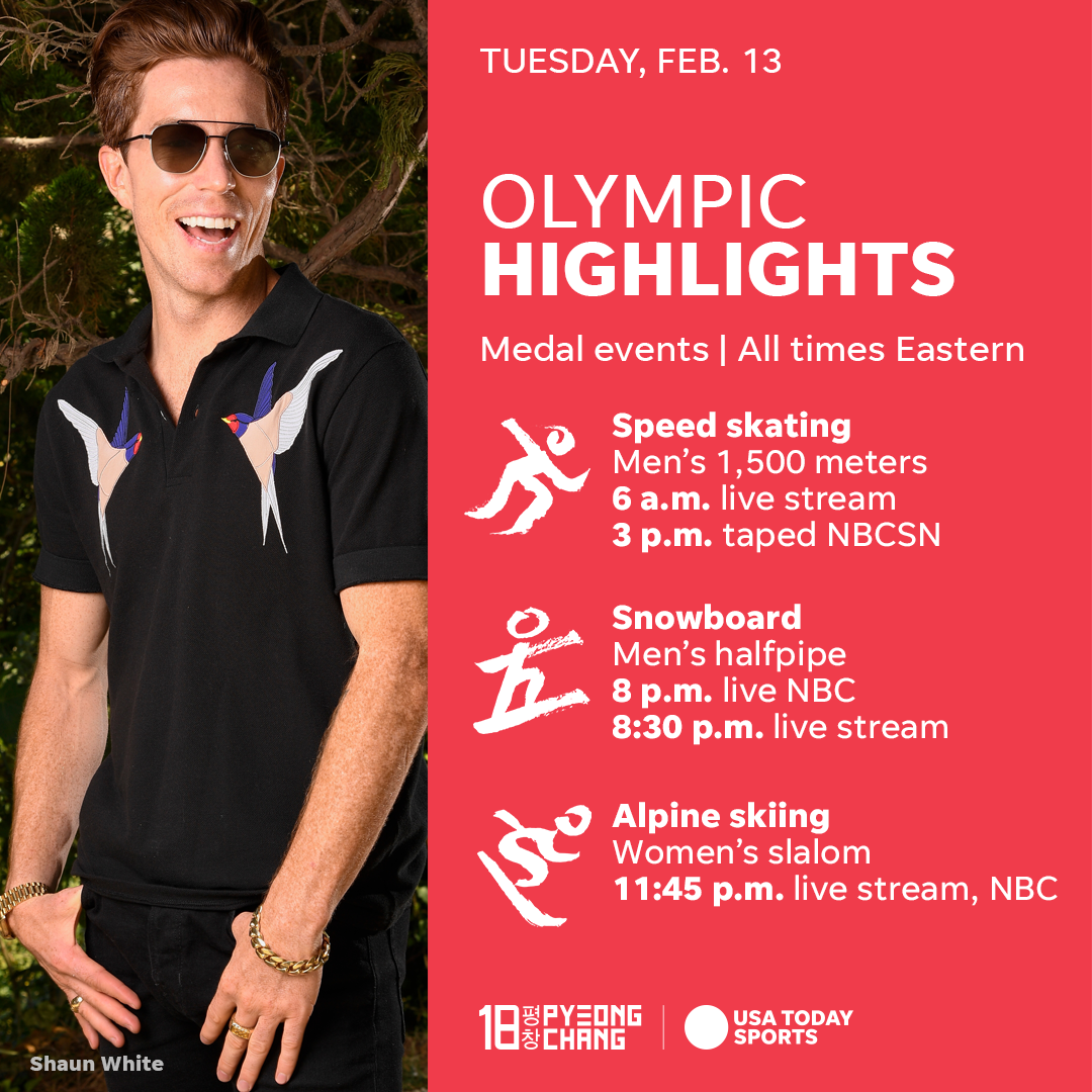 2018 winter olympics: schedule, medal count & latest news for tuesday