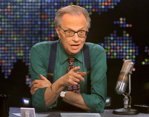"""Larry King, the Brooklyn-bred man who became cable TV&rsquo;s most well-known talk-show host, <a href=""""https://www.usatoday.com/story/entertainment/celebrities/2021/01/23/larry-king-cnn-talk-show-legend-dies/331963002/"""" target=""""_blank"""">died Jan. 23</a>.&nbsp;He was 87.<br /> <br /> King&nbsp;<a href=""""https://www.usatoday.com/story/entertainment/celebrities/2021/01/03/larry-king-has-coronavirus-and-hospitalized/4118112001/"""" rel=""""noopener"""" target=""""_blank"""">had been hospitalized with COVID-19</a>. He passed away at Cedars-Sinai Medical Center in Los Angeles, according to&nbsp;Ora Media, a production company King founded with Mexican media mogul Carlos Slim."""