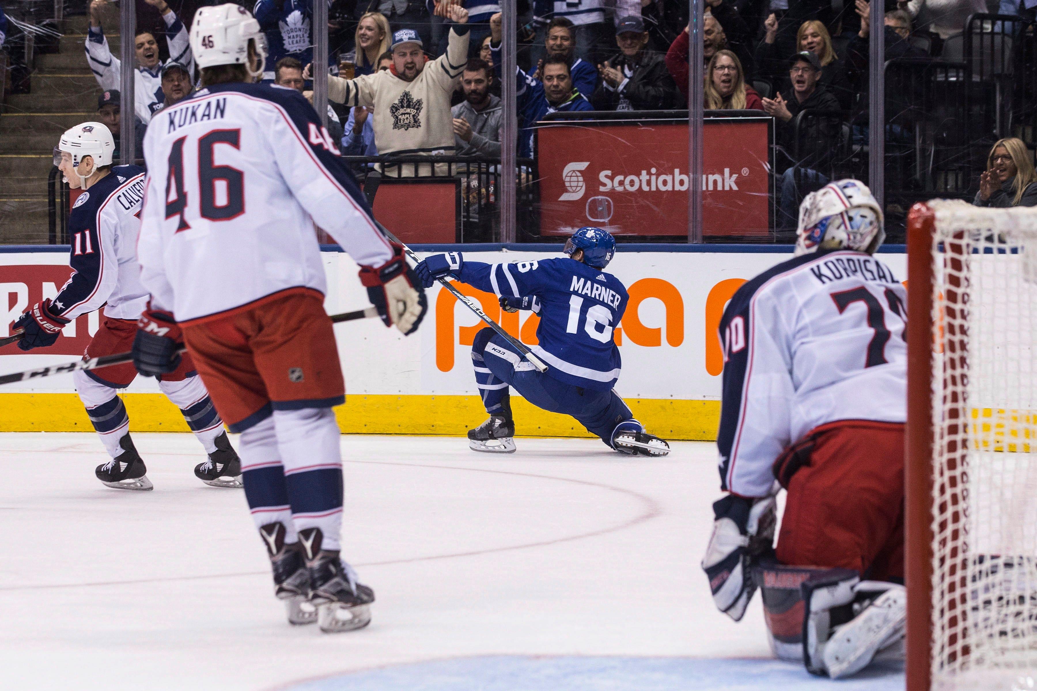 Kadri, Maple Leafs beat Blue Jackets 6-3