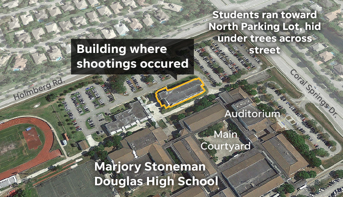 Parkland Campus Map.Florida School Shooting Minute By Minute Account Of The Deadly Day