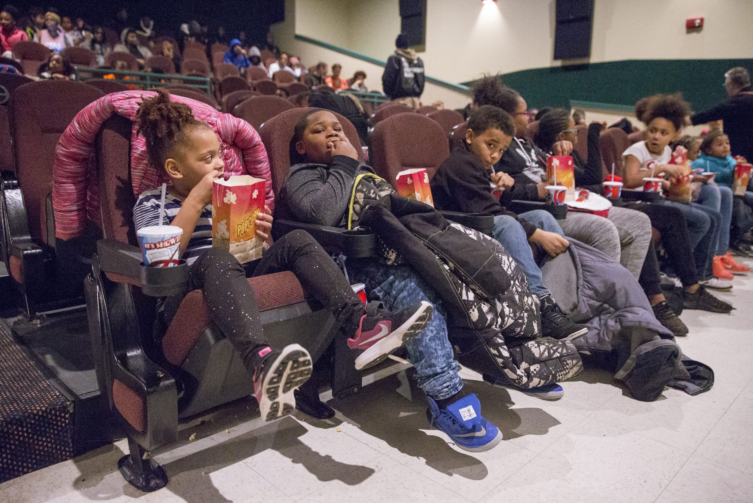 Stupendous Kids Take A Group Outing To Black Panther Bralicious Painted Fabric Chair Ideas Braliciousco
