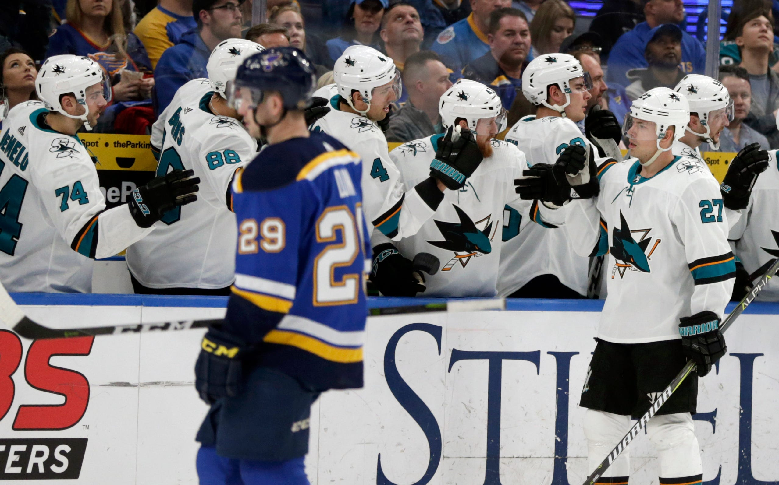 Couture, Boedker send Sharks to 3-2 win over Blues