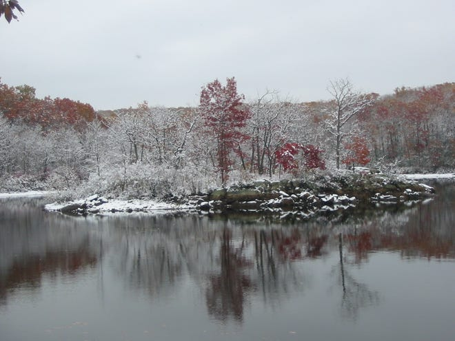 File photo of east-facing view across the Butler Reservoir from the Red Trail in the Apshawa Preserve.