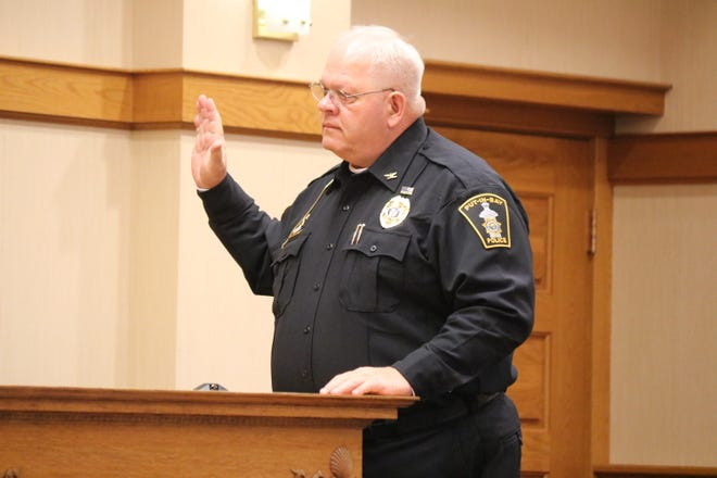 Put-in-Bay Police Chief Steve Riddle testified in Ottawa County Common Pleas County in February that Keith Blumensaadt sent him threatening text messages in June.