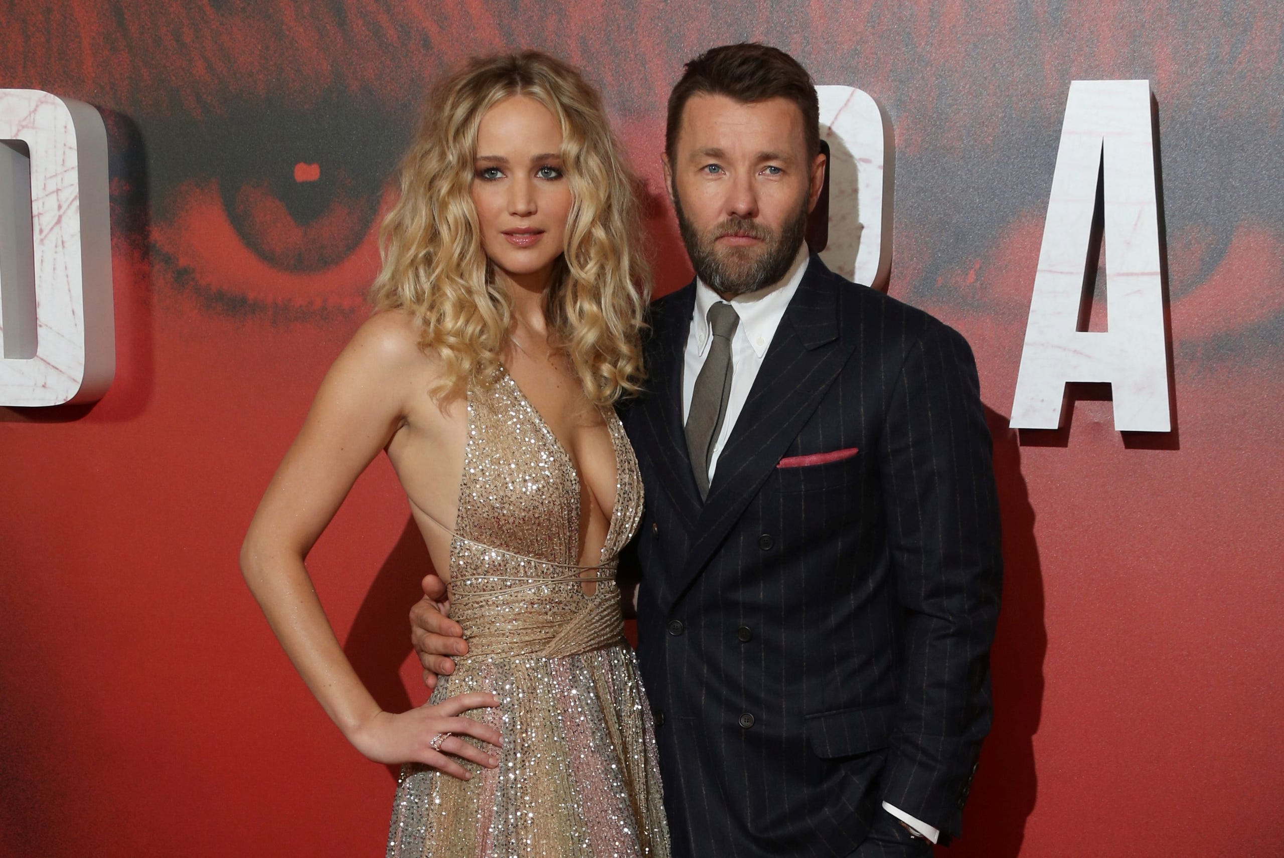 Photos of actress Jennifer Lawrence and 'Red Sparrow' movie stars