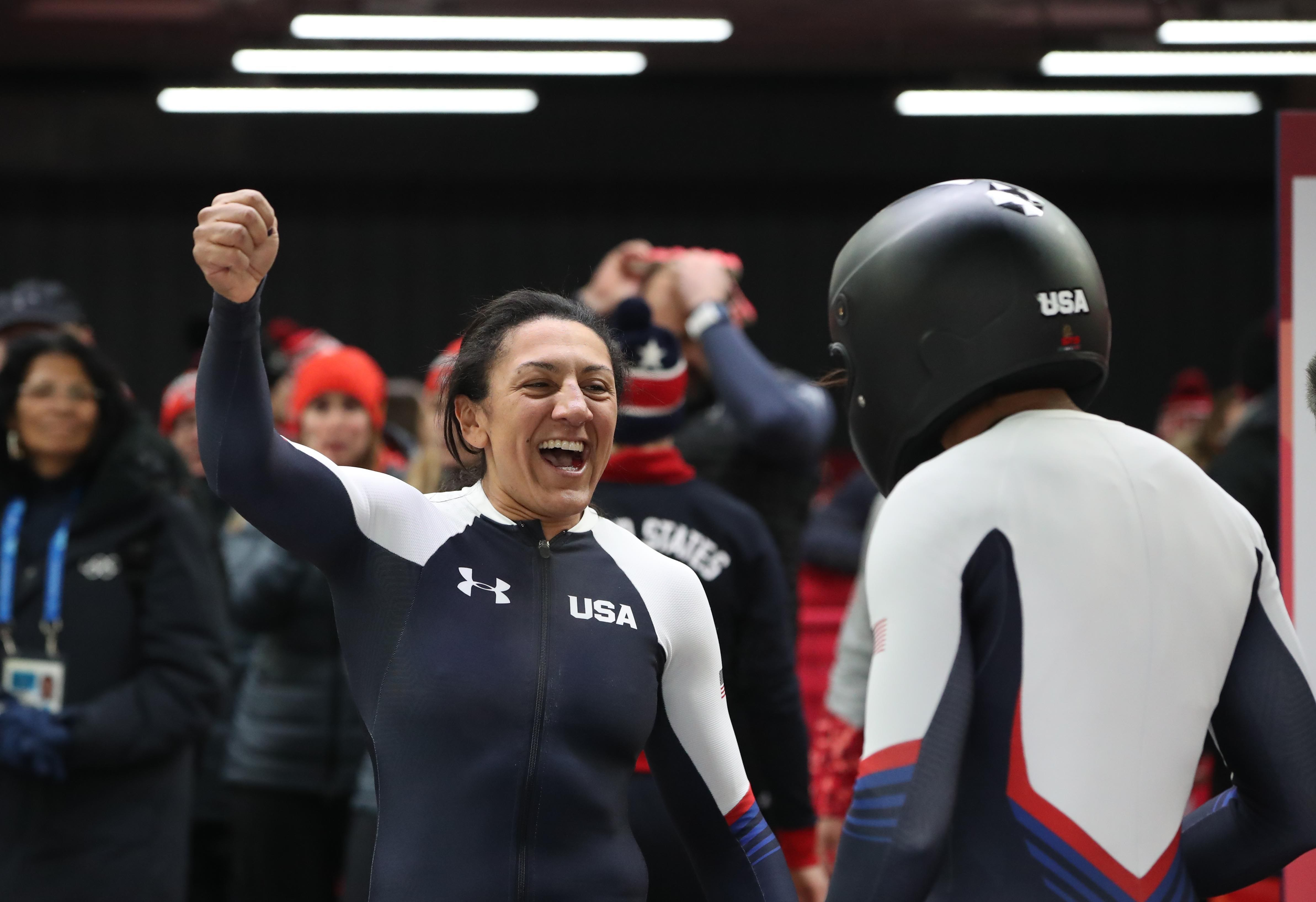 Olympic medalist Elana Meyers Taylor gets emotional discussing loss of teammate Steven Holcomb