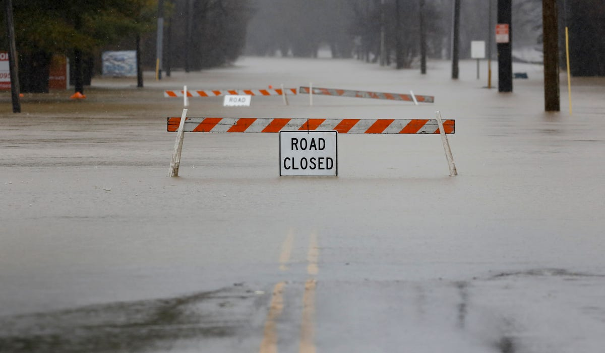 Here are all the Louisville roads closed from flooding