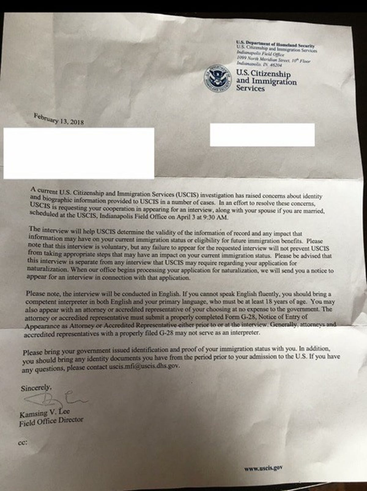 Burmese refugees in Iowa summoned by U S  immigration officials