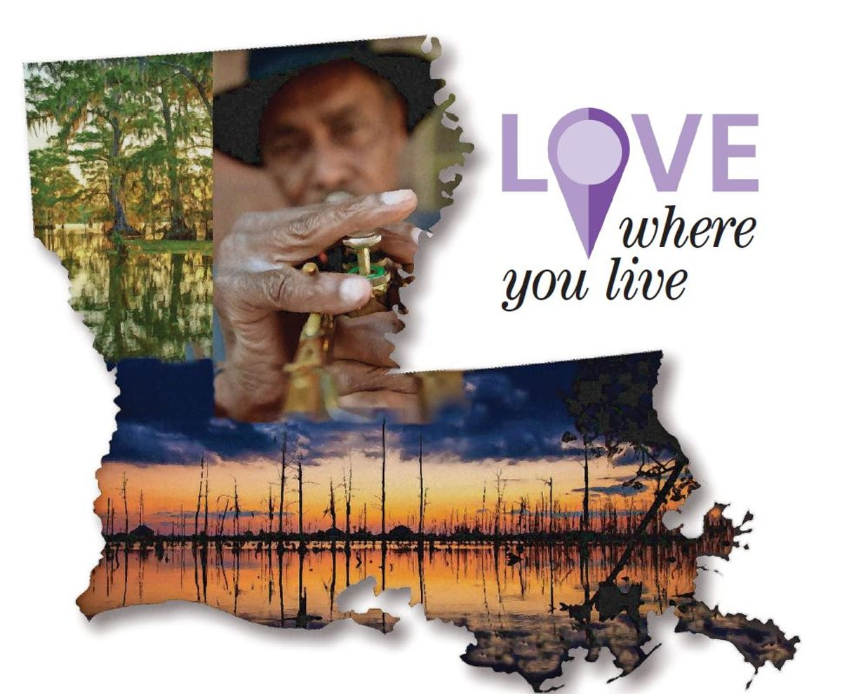 Love Where You Live: 101 Great Things to Love About Louisiana