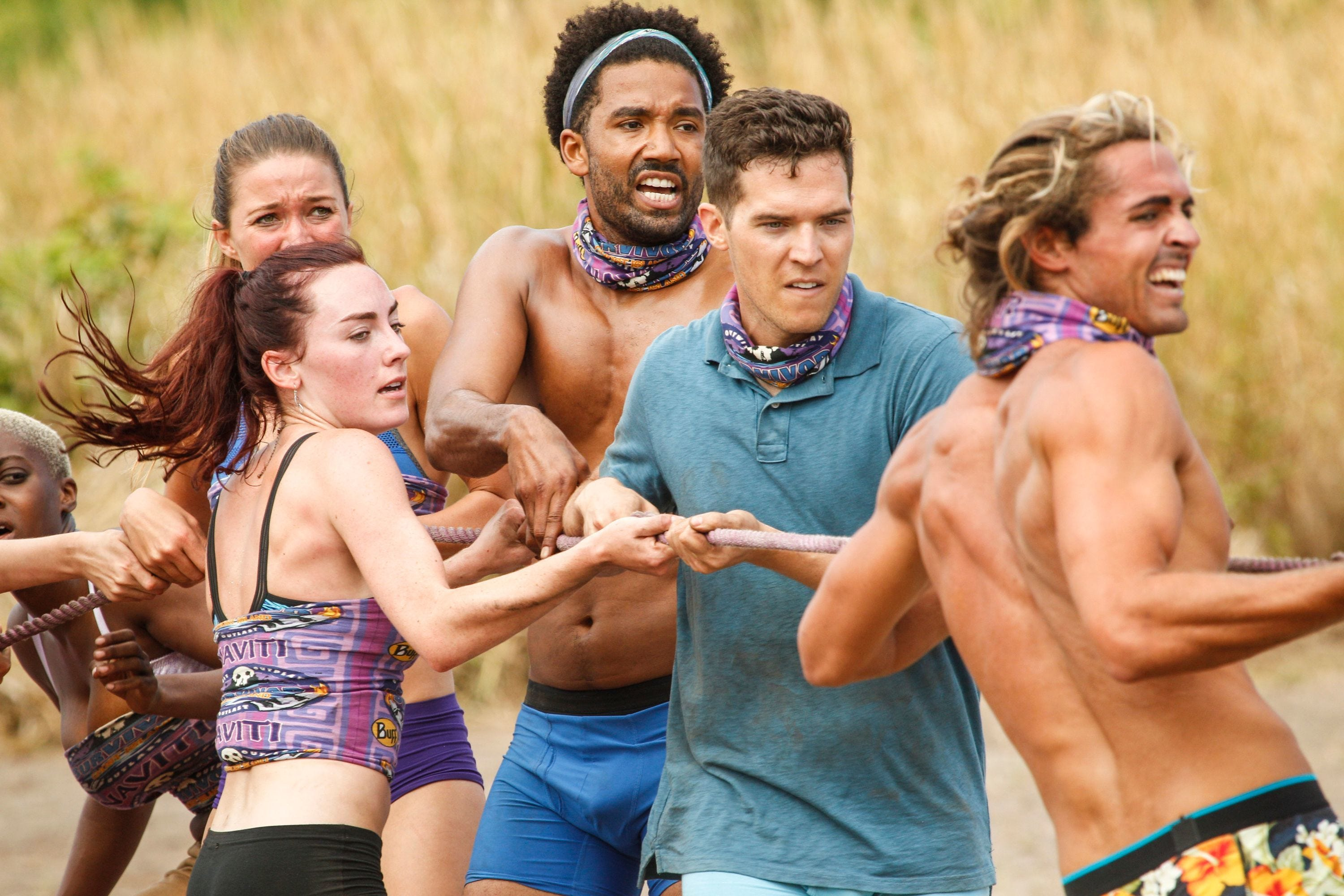 636555094165865518-Noel-with-Tribe-in-challenge Update on Viera High's Noel after 1st episode of Survivor: Ghost Island