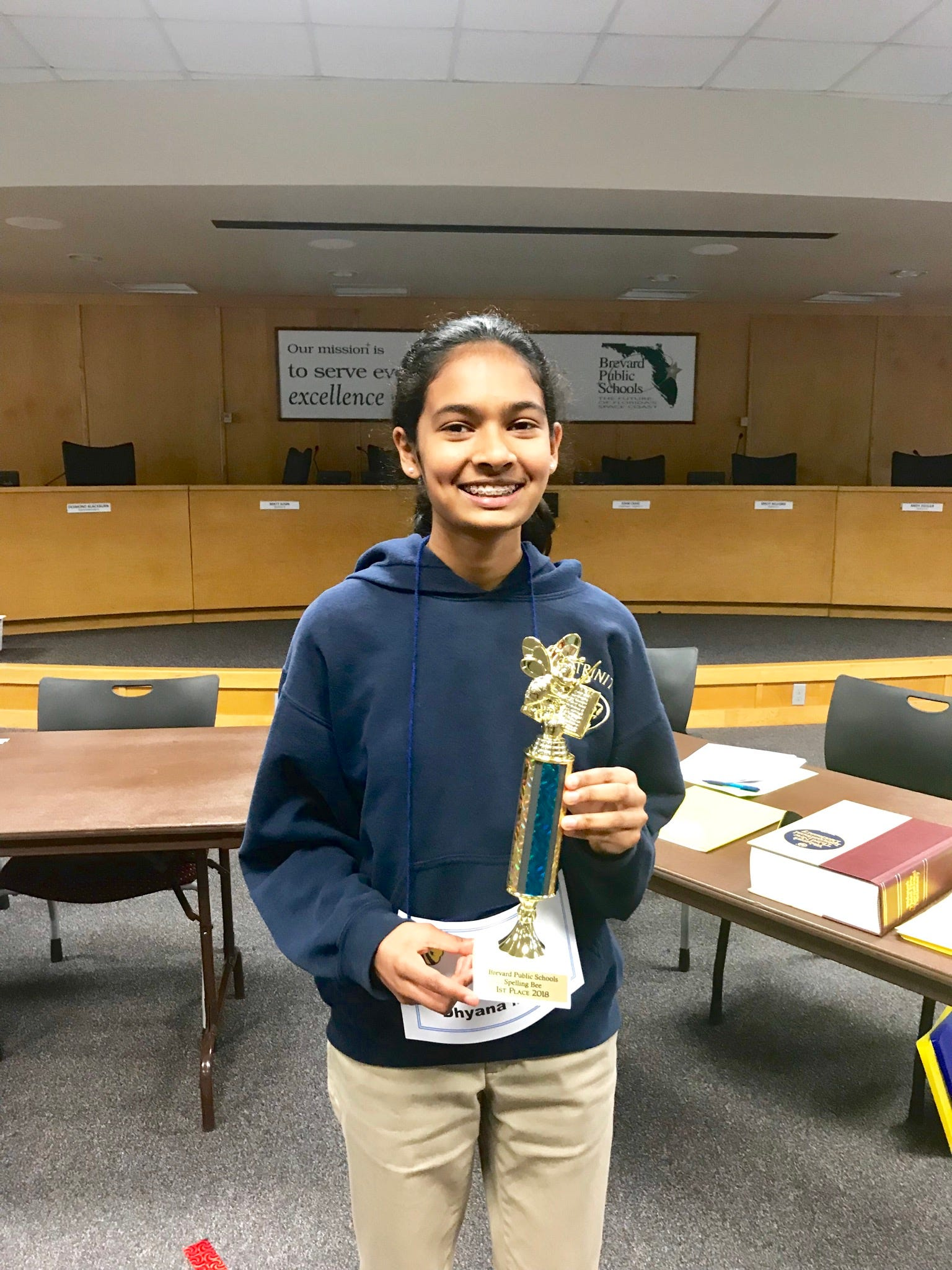 636556093038780389-dhyanamishra2018 West Melbourne's Dhyana Mishra competes in 2018 Scripps National Spelling Bee