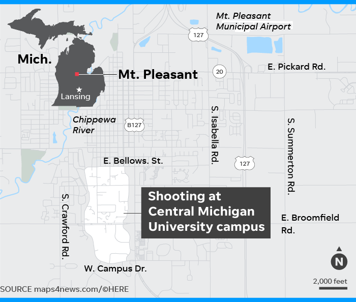 Suspect In Central Michigan Shooting Death Used Gun