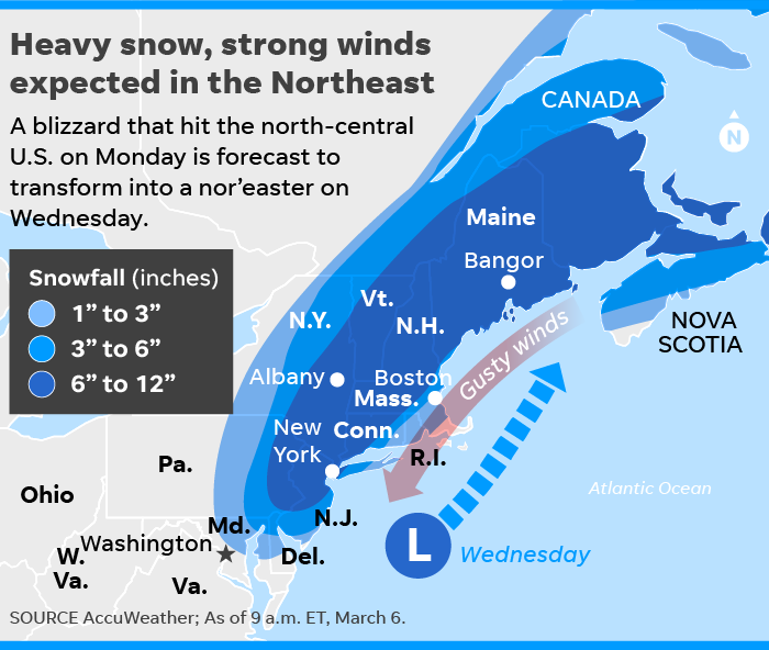 Weather Forecast New Nor Easter Is Coming But Won T Be