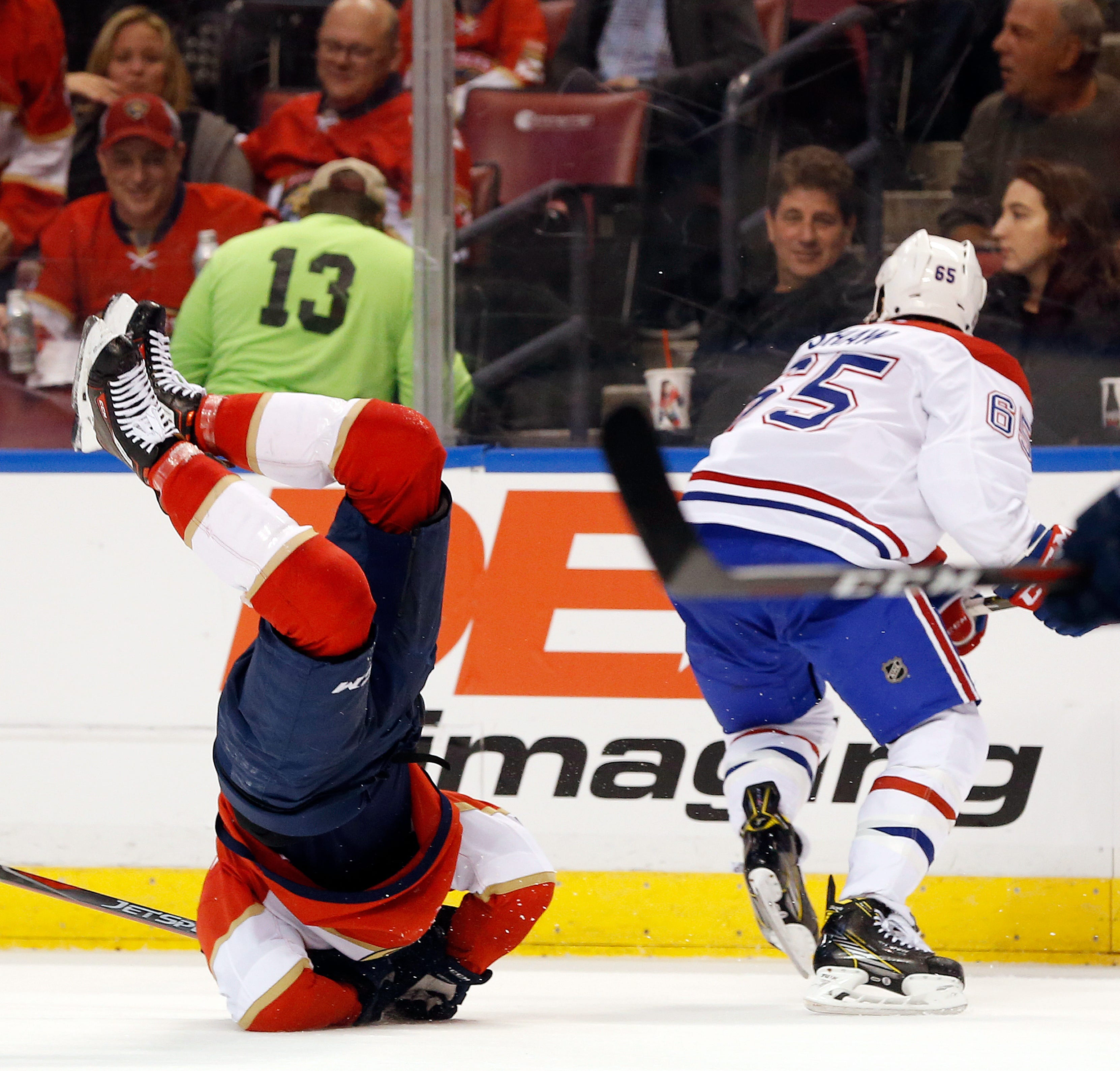 Luongo blanks Canadiens, Panthers win 7th straight at home