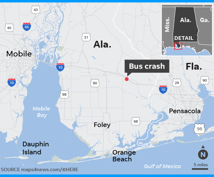 Autopsy Driver Of Charter Bus That Crashed Died Of Blunt Force Injury
