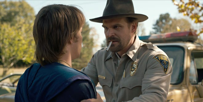 """Netflix's """"Stranger Things,"""" which stars David Harbour, recorded the most incidents of smoking in a survey of 14 shows favored by young viewers, the group most likely to take up smoking."""