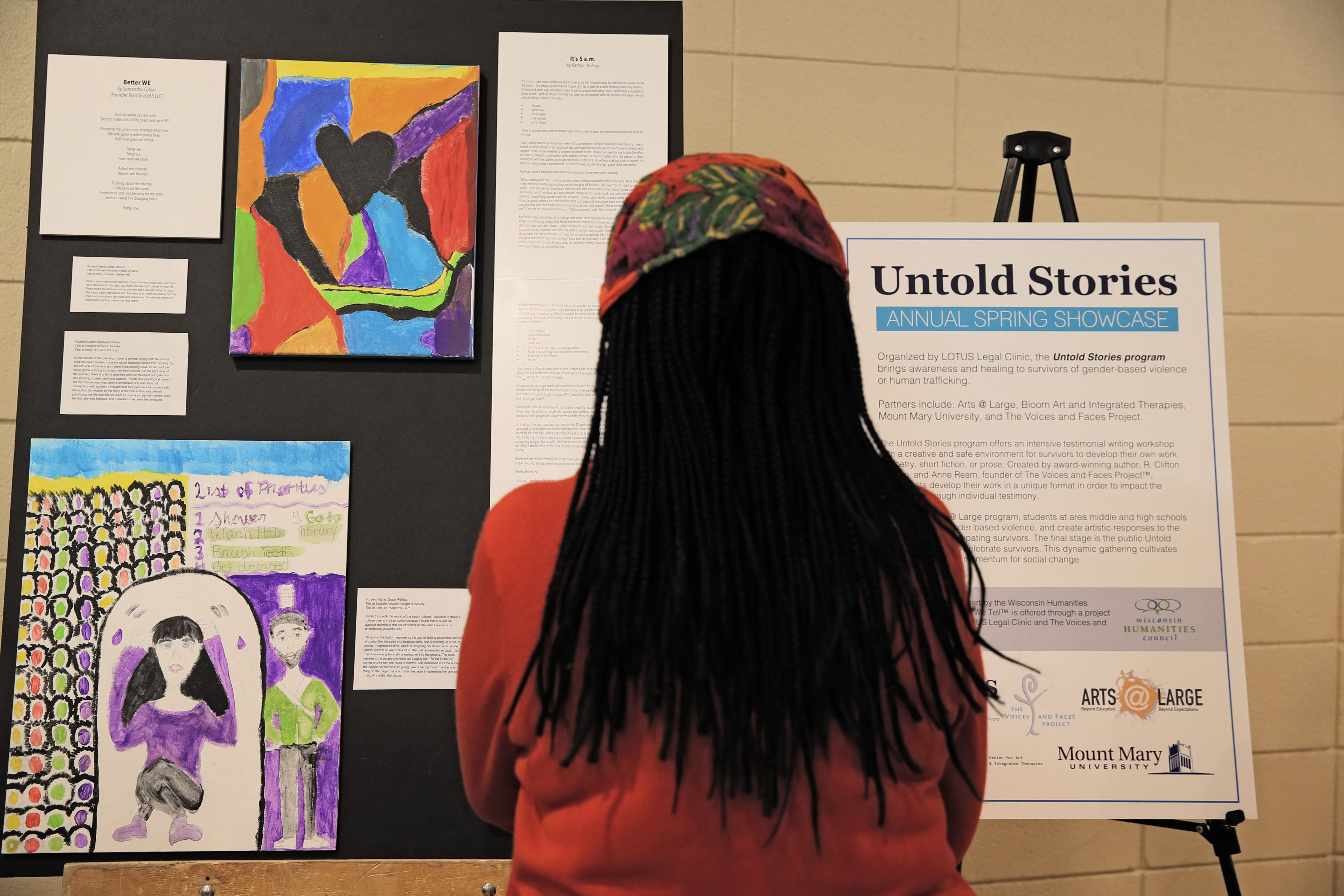 'Empowering': Milwaukee high school students create art inspired by sexual abuse survivors in Untold Stories   Milwaukee Journal Sentinel