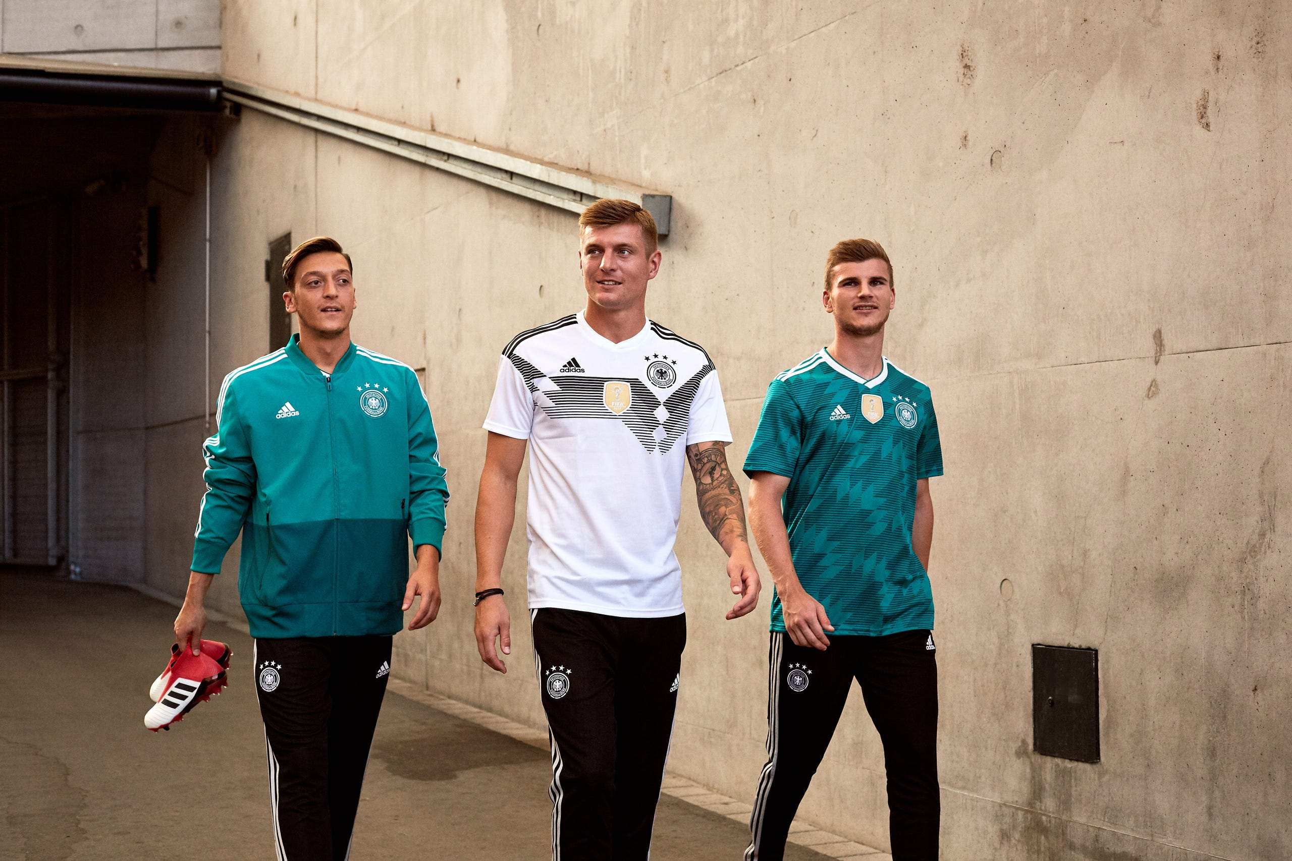 a3c0b8730 Germany s away jersey is inspired by the green 1990 World Cup away jersey  worn in the