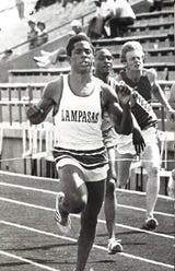 """Legendary track stars, including Johnny """"Lam"""" Jones, were honored at the 60th San Angelo Relays; Jones died March 15 at the age of 60."""
