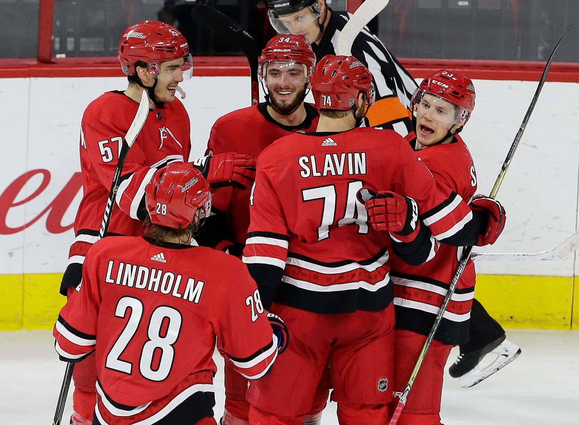 Carolina beats Coyotes 6-5 after giving up weird goal