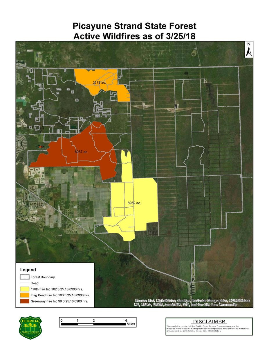 Collier County Wildfire Map.Wildfires In Collier Crews Work To Keep Brush Fire From Collier Homes