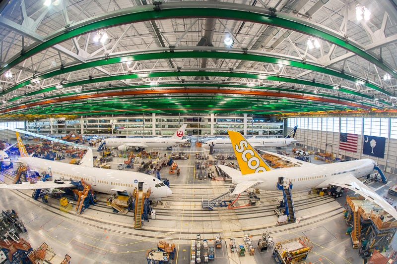 Behind the scenes at the Boeing factory in South Carolina