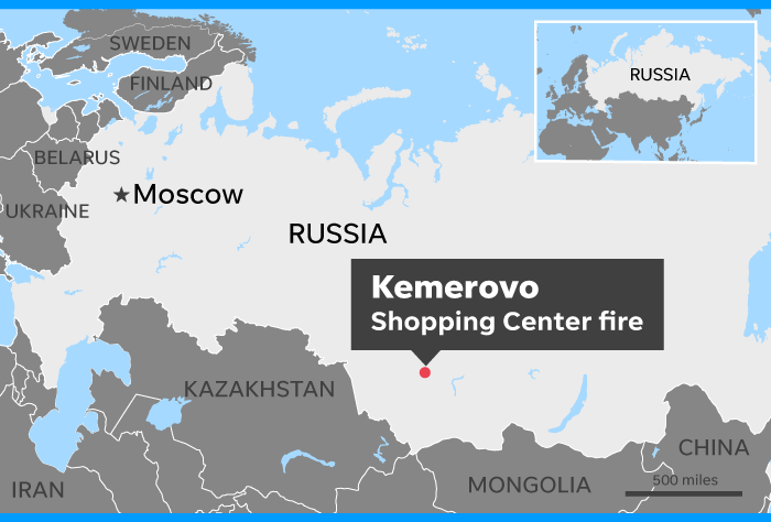 Russia fire At least 64 dead in shopping center fire