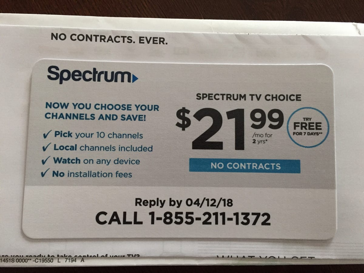 Spectrum offers a-la-carte package targeting cord-cutters