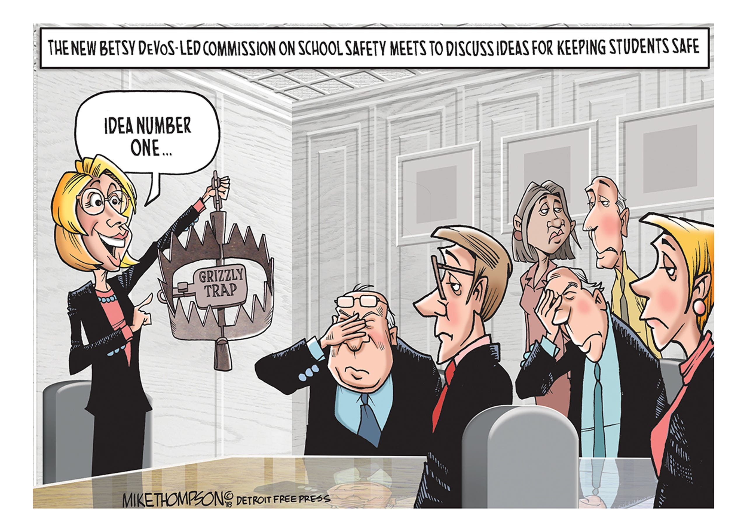 Mike Thompson S Betsy Devos Cartoon Gallery
