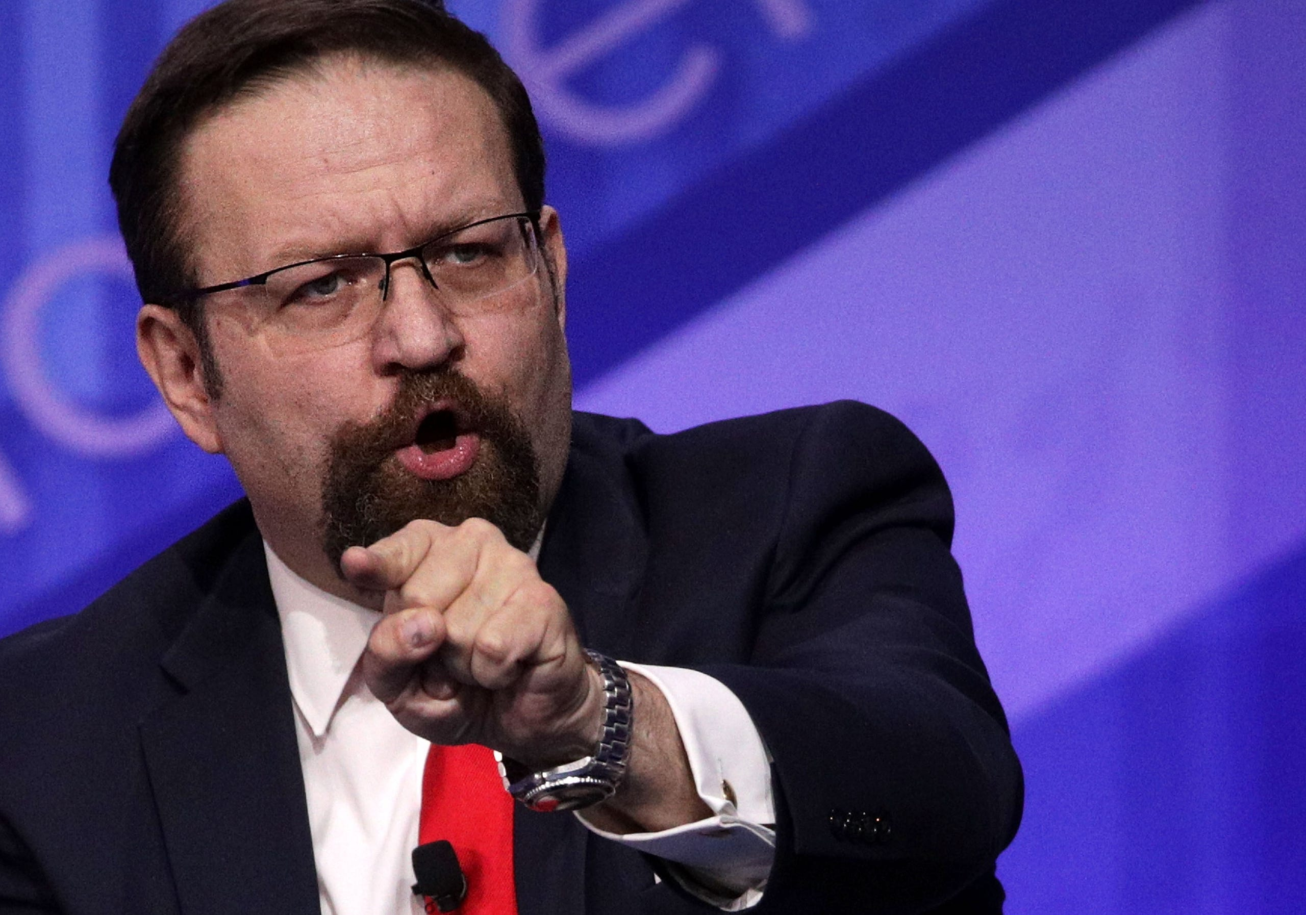 Deputy assistant to President Trump Sebastian Gorka stepped down Aug. 26, 2017.  He participates in a discussion during the Conservative Political Action Conference, on  Feb. 24, 2017, in National Harbor, Md.