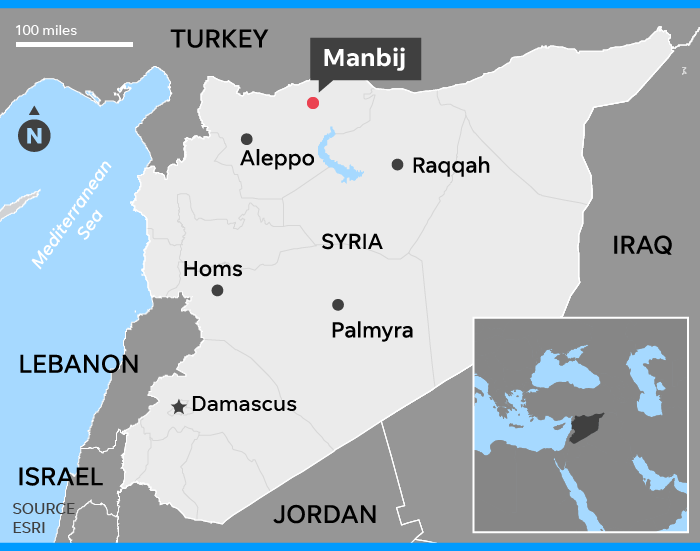 American among two members of U.S.-led coalition killed in Syria