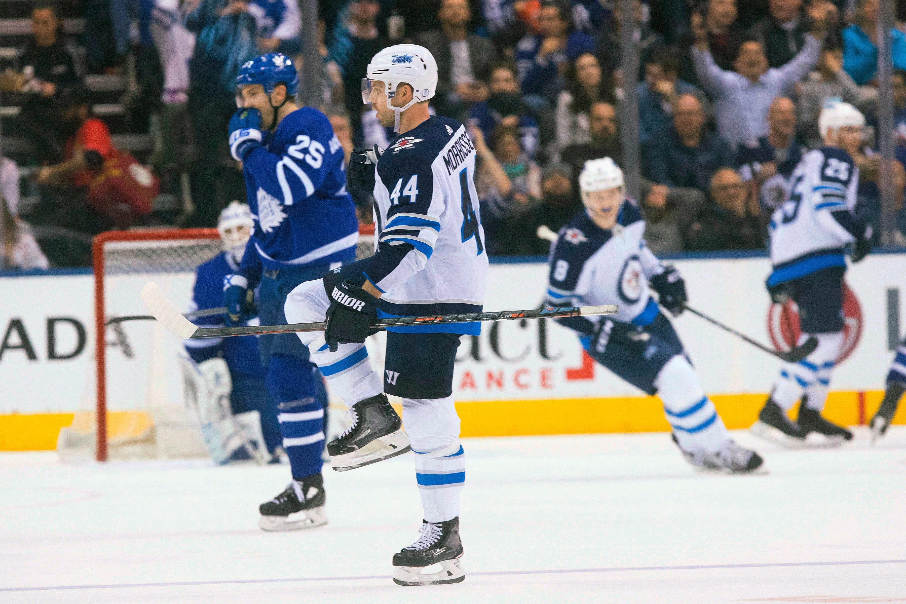 Morrissey, Byfuglien lead Jets past Maple Leafs, 3-1