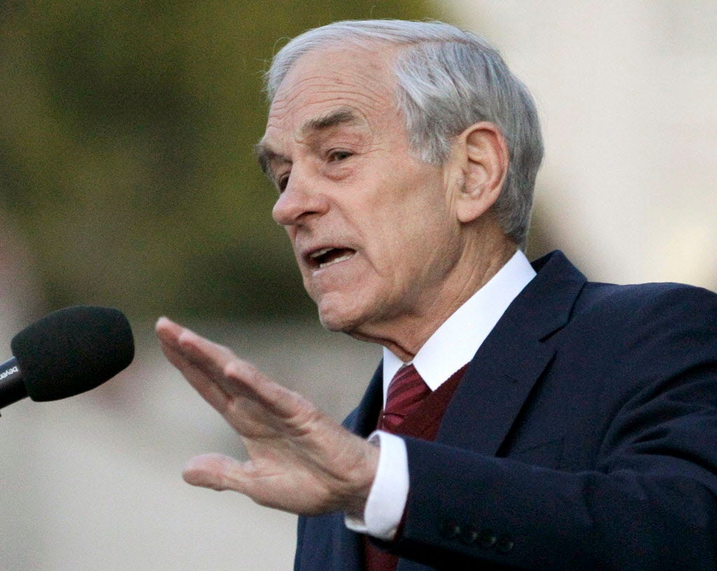 """""""What we're working with now is fake money, a fake measuring rod,"""" longtime Fed critic and former Republican presidential candidate Ron Paul told USA TODAY."""