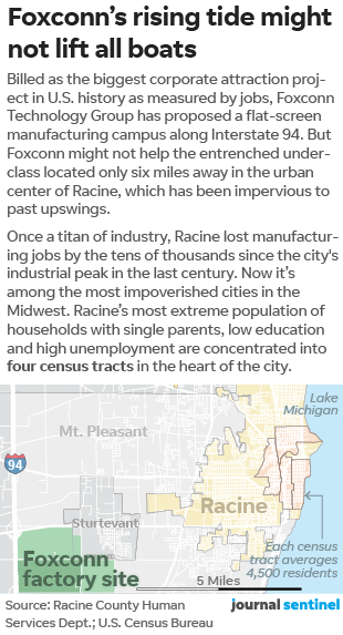 Foxconn: Racine could miss jobs boom as Wisconsin gets