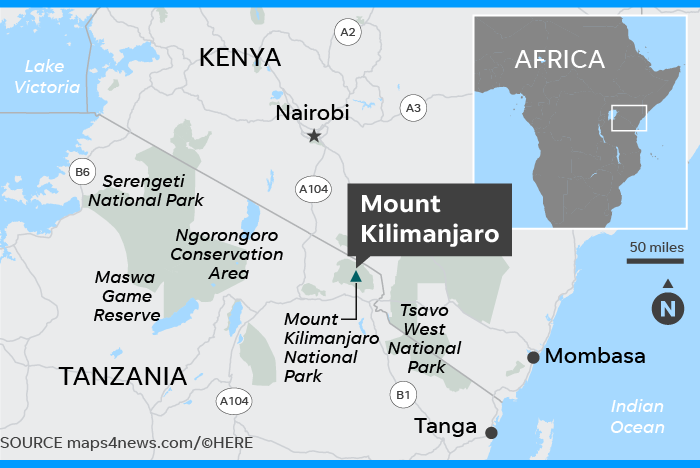 Where Is Mount Kilimanjaro On A Map Of Africa.Texas 7 Year Old Becomes Youngest Girl To Climb Mount Kilimanjaro