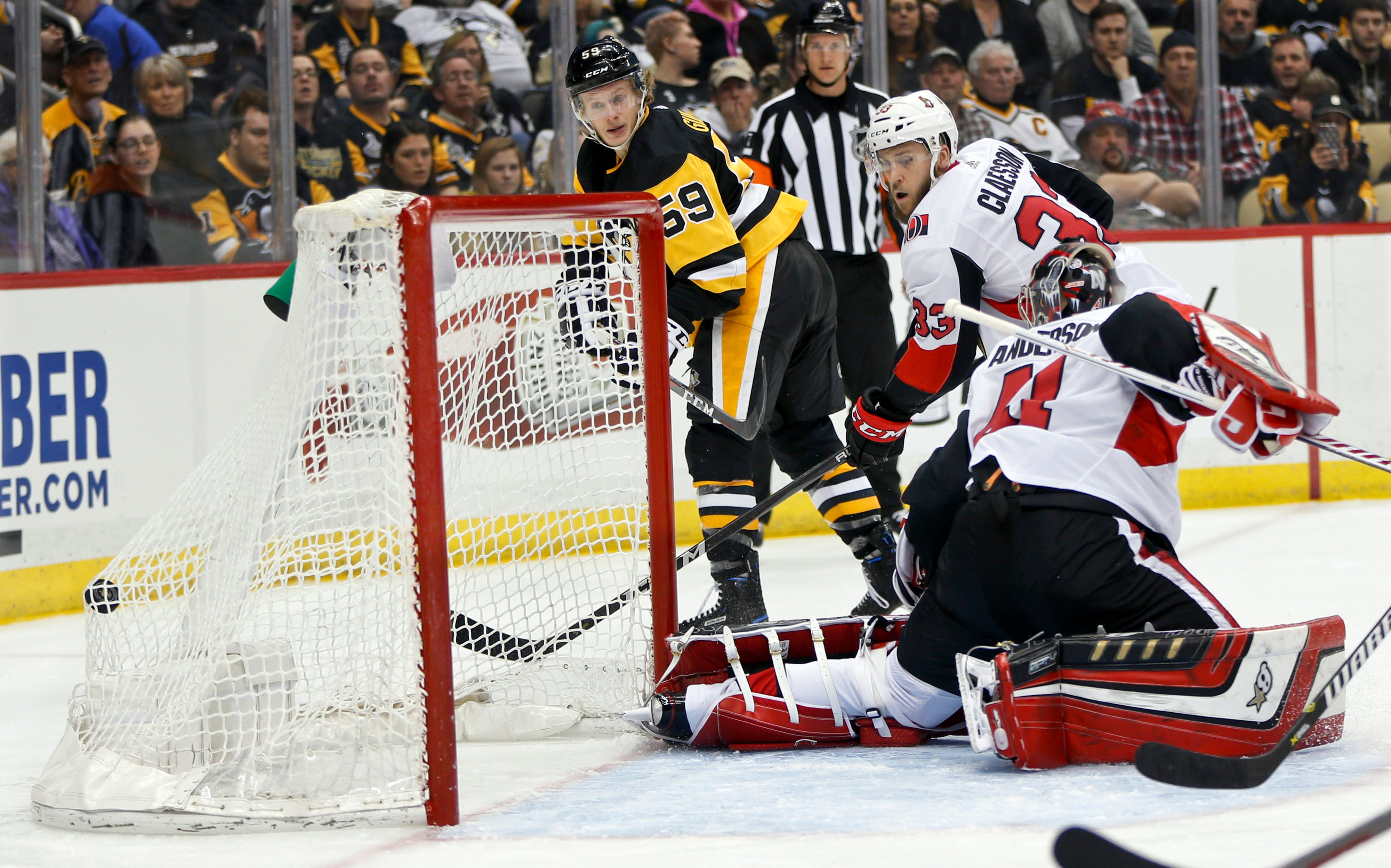 Penguins top Senators 4-0 to earn home-ice in 1st round