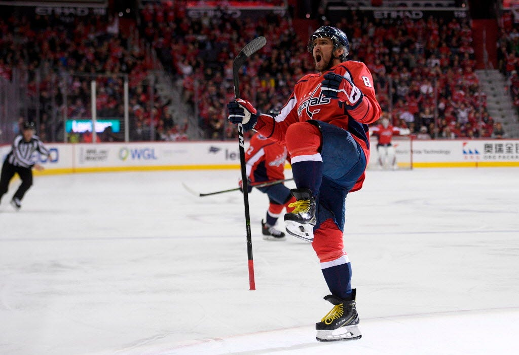 Alex Ovechkin oldest to win NHL goal-scoring race since 1975