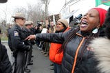 Black Women's March protesters rally in Tarrytown and attempt to march across the Gov. Mario M. Cuomo Bridge to bring attention to the experiences of black women in upstate New York April 7, 2018. Video by Tania Savayan