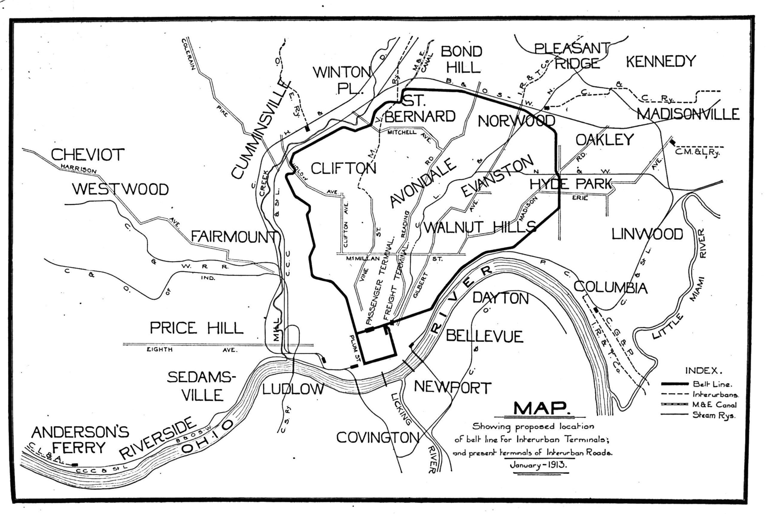 Cincinnati Subway Map.A Visual History Of Cincinnati Transportation