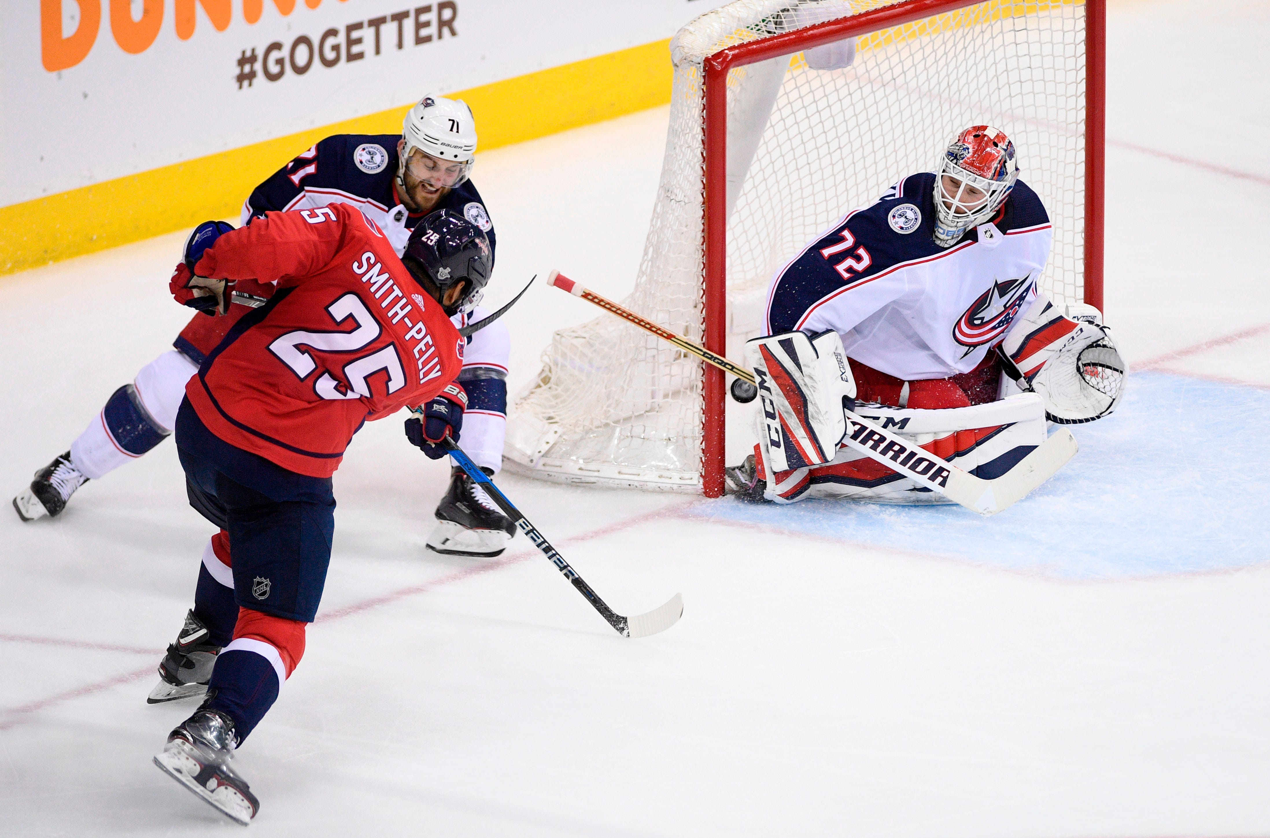 Panarin scores in OT, Blue Jackets beat Capitals in Game 1